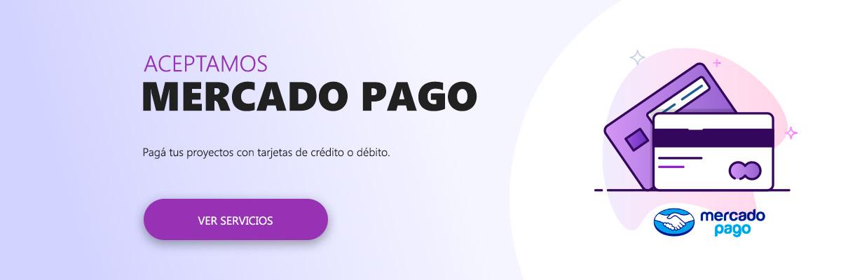 Spiral Digital Studio - Medios de pago: Contratá tus servicios pagando con cualquier tarjeta de crédito y débito (Mercado Pago)